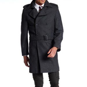 Nautica Double Breast Button Belted Peacoat 44L